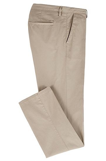 修身版弹力棉斜纹棉布裤,  294_淡米色