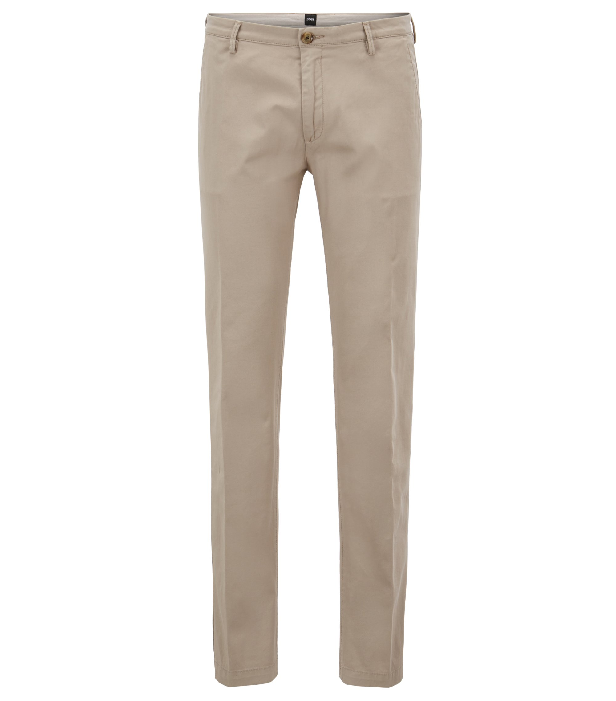 Slim-fit chino in een stretchtwill, Beige