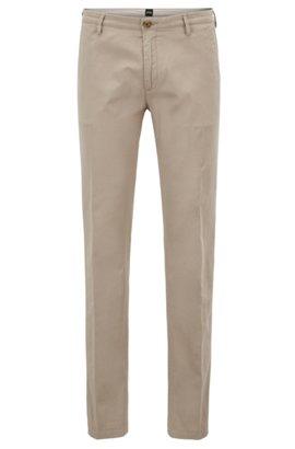 Lightweight slim-fit trousers in stretch-cotton gabardine HUGO BOSS H7Fii