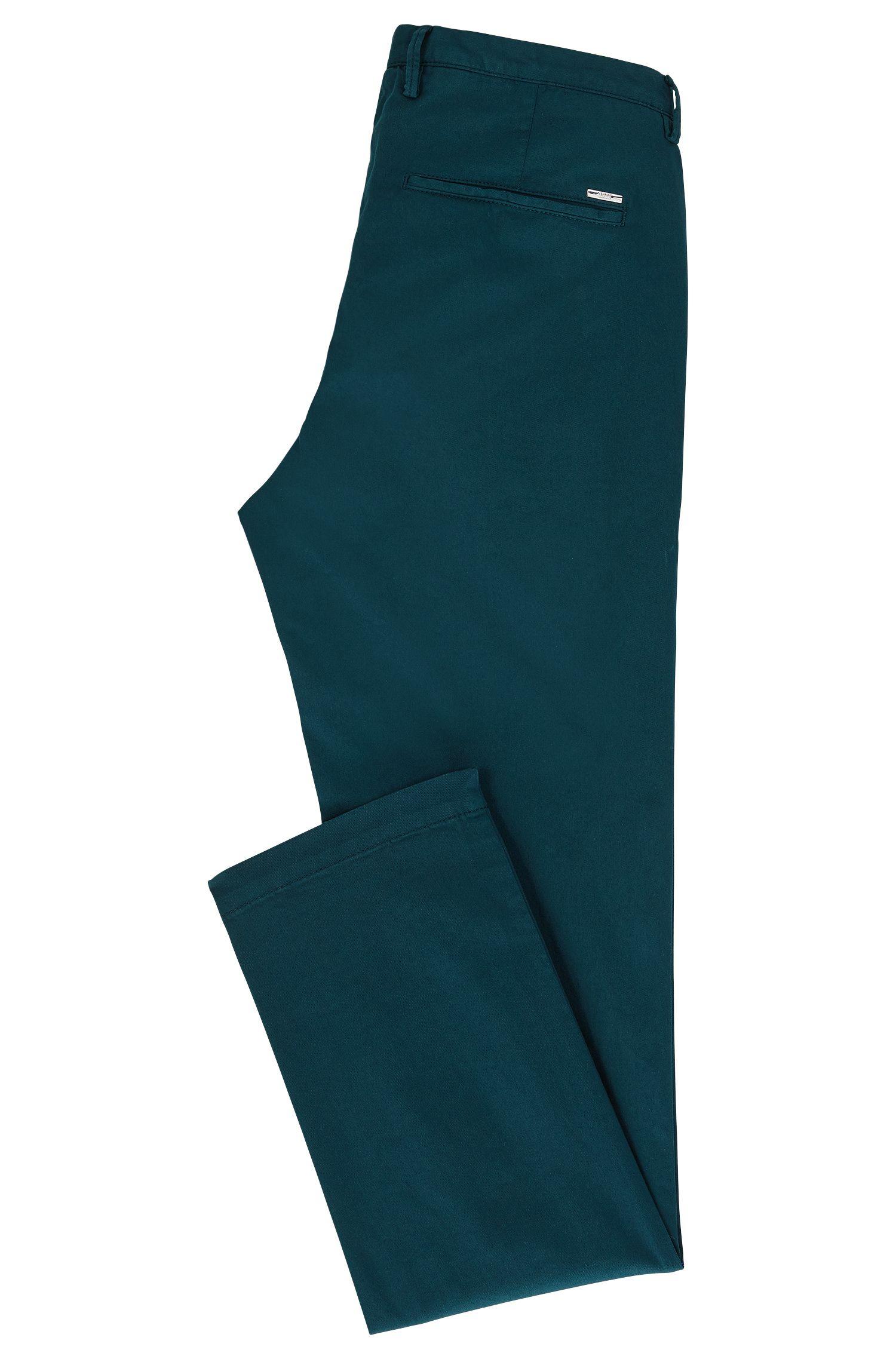 Chino slim fit in gabardine di cotone elasticizzato