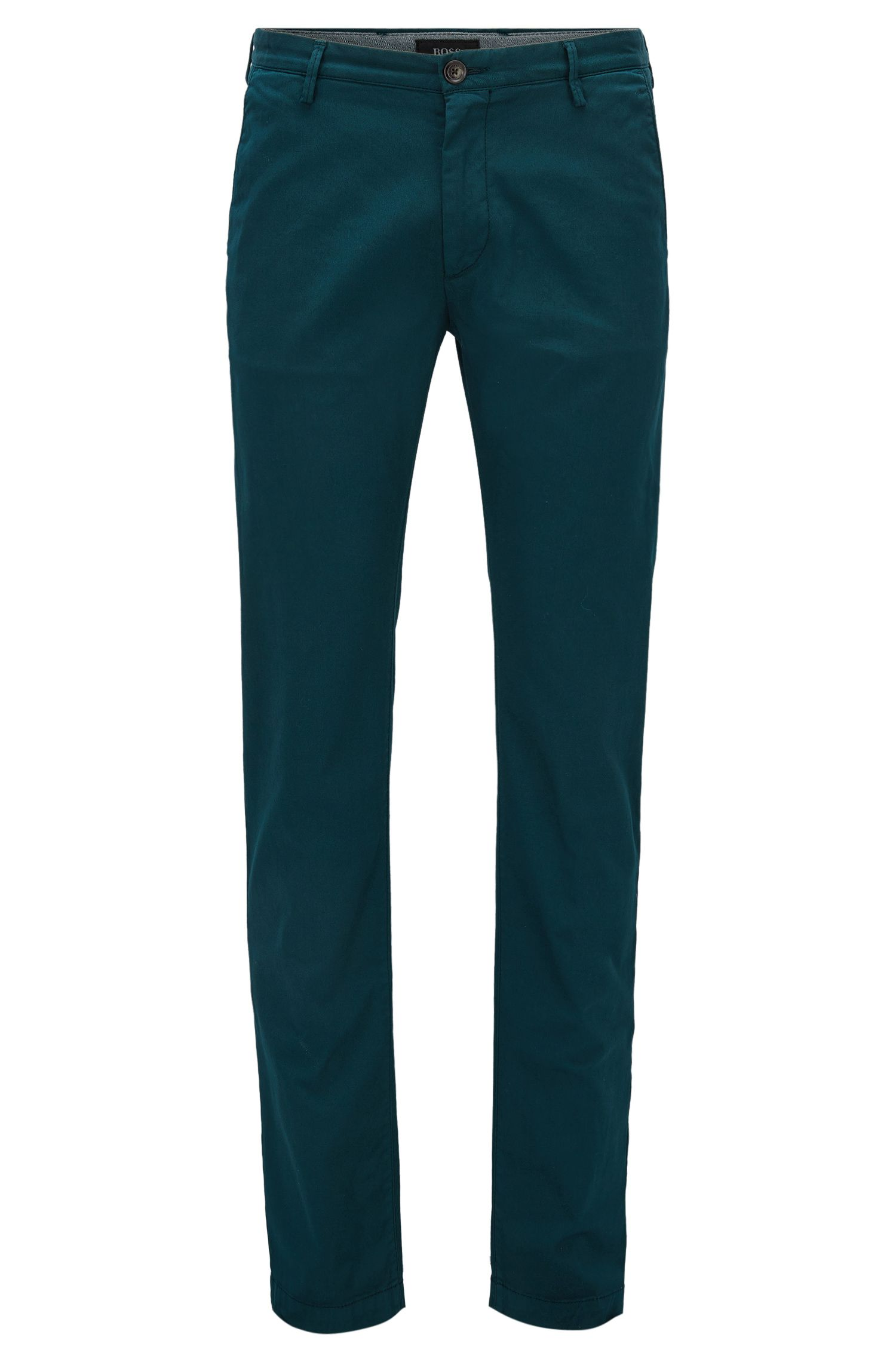 Slim-fit chinos in stretch twill