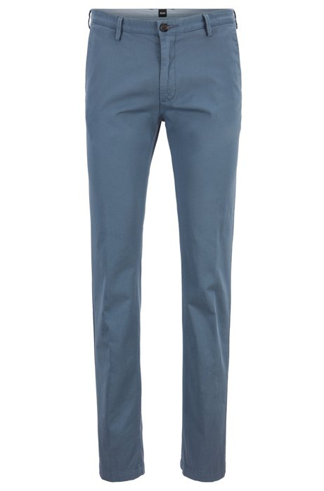 Chino Slim Fit en gabardine de coton stretch, Bleu vif