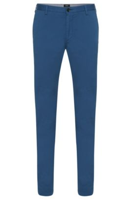Slim-fit chino in een stretchtwill, Lichtblauw