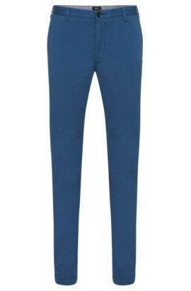 Chino Slim Fit en sergé stretch, Bleu vif