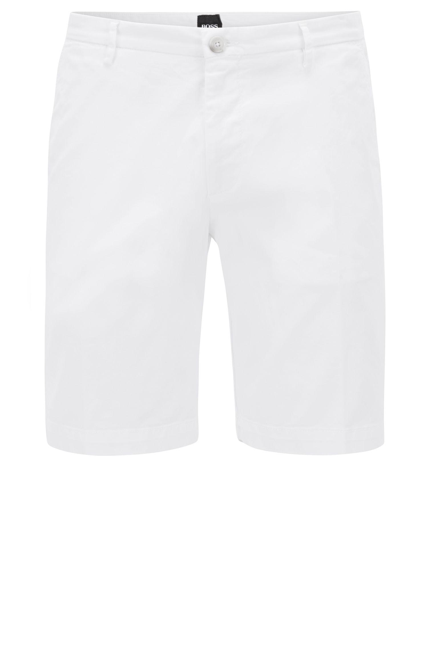 Slim-fit short in een gabardine van stretchkatoen
