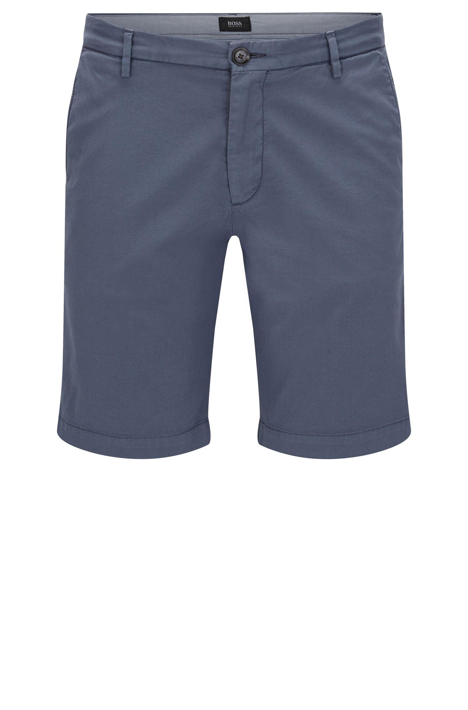 Short uni Slim Fit en coton stretch: «RiceShort3-D»