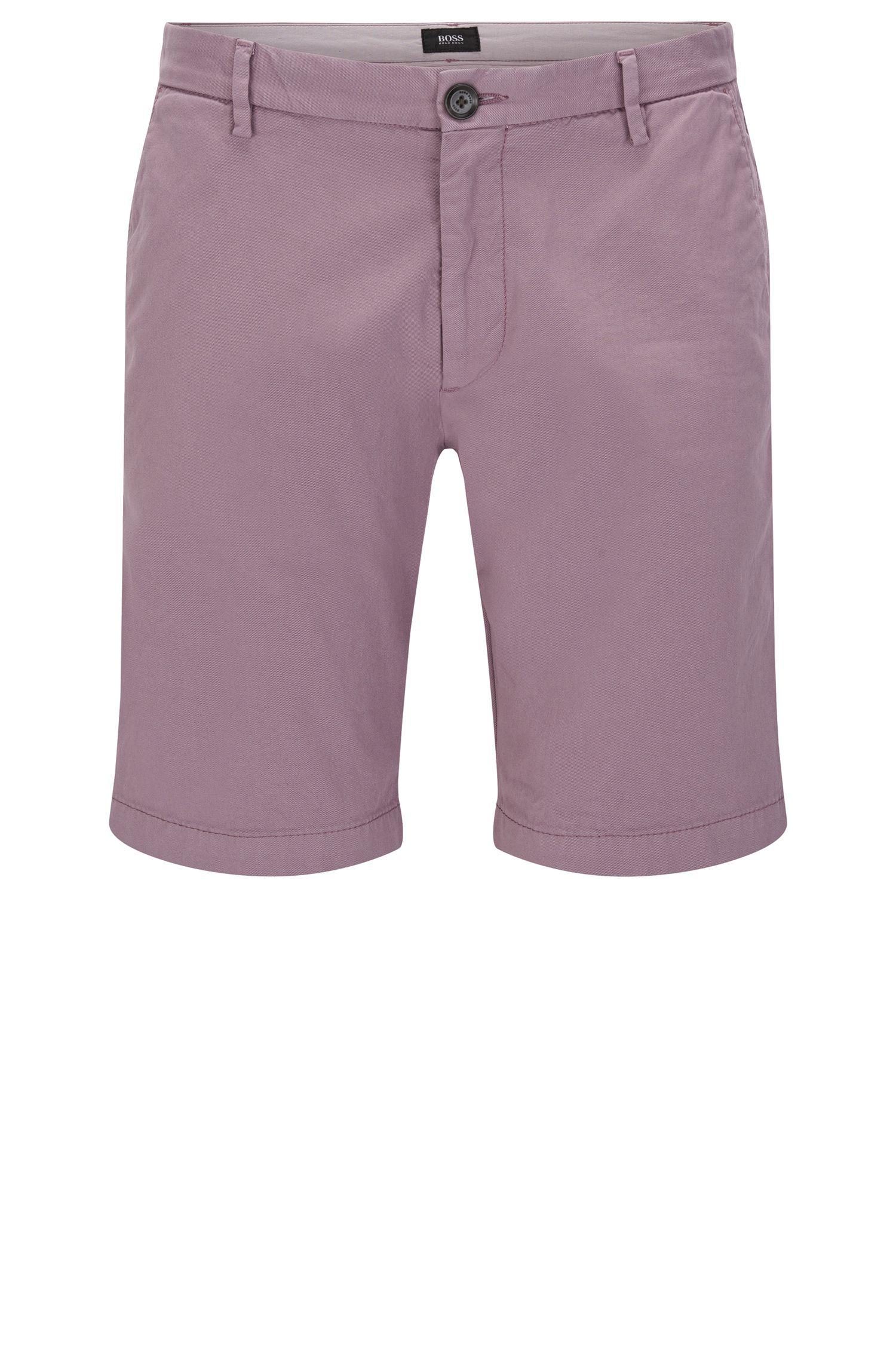 Unifarbene Slim-Fit Shorts aus Stretch-Baumwolle: 'RiceShort3-D'