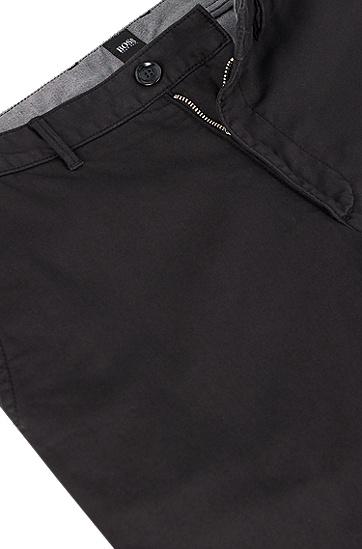 常规版弹力棉华达呢BOSS男士斜纹棉布裤,  001_黑色