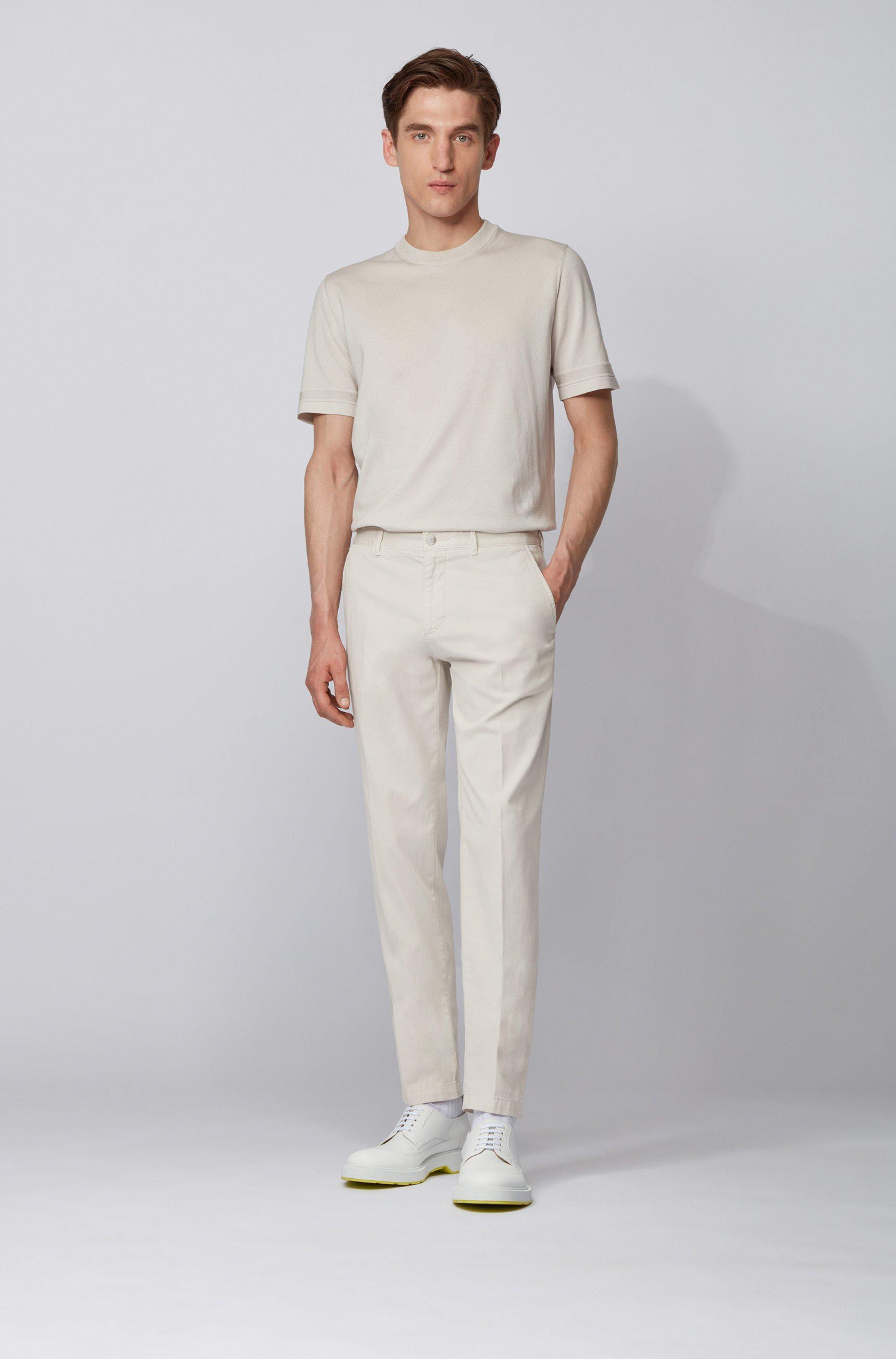 Regular-fit chinos in stretch-cotton gabardine