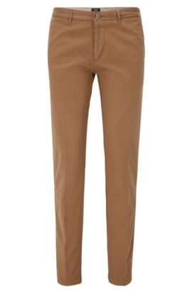 Regular-Fit Chino aus Stretch-Baumwolle, Beige