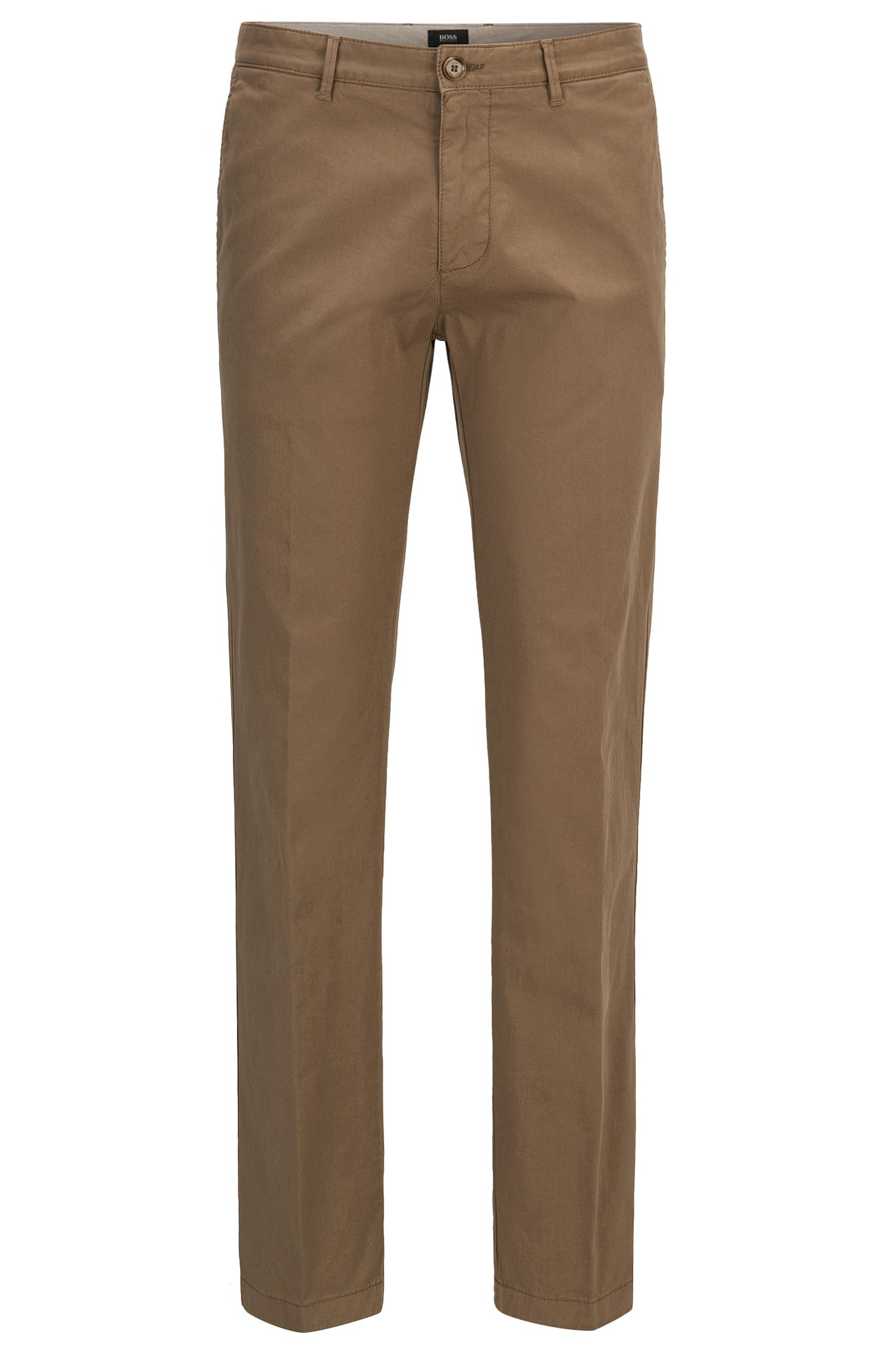 Chino Regular Fit en gabardine de coton stretch