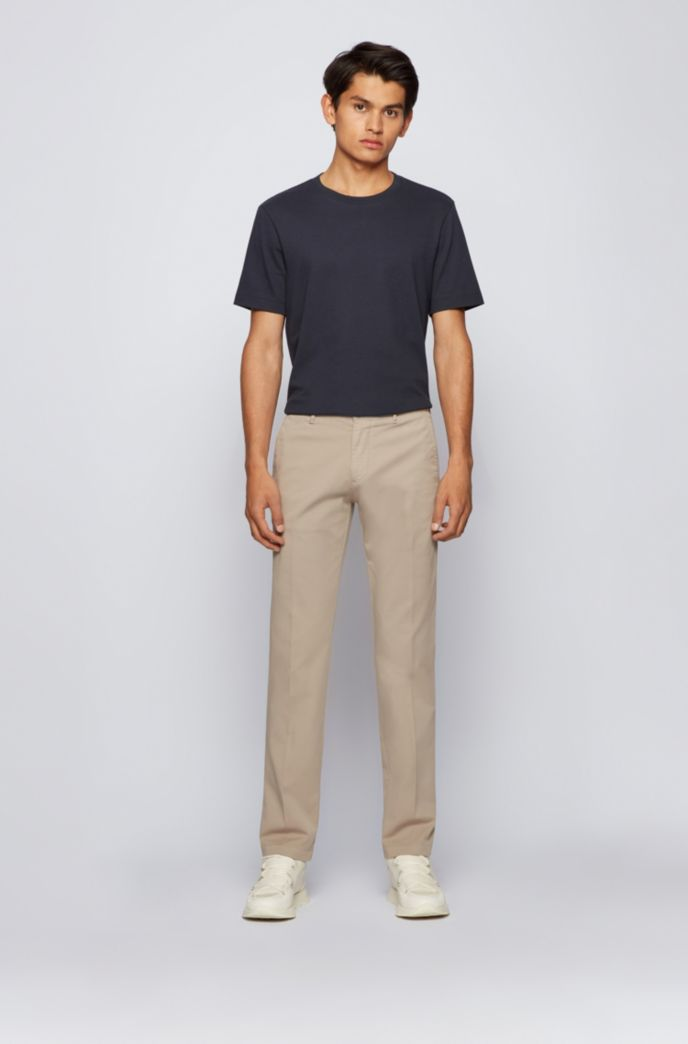 Regular-fit chinos in stretch cotton gabardine