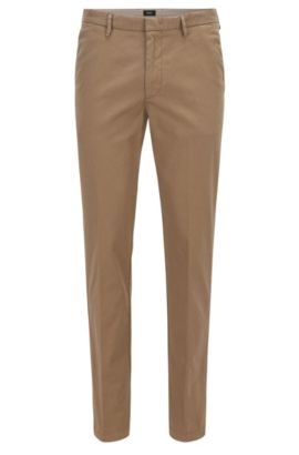 Chino Slim Fit en sergé stretch, Beige