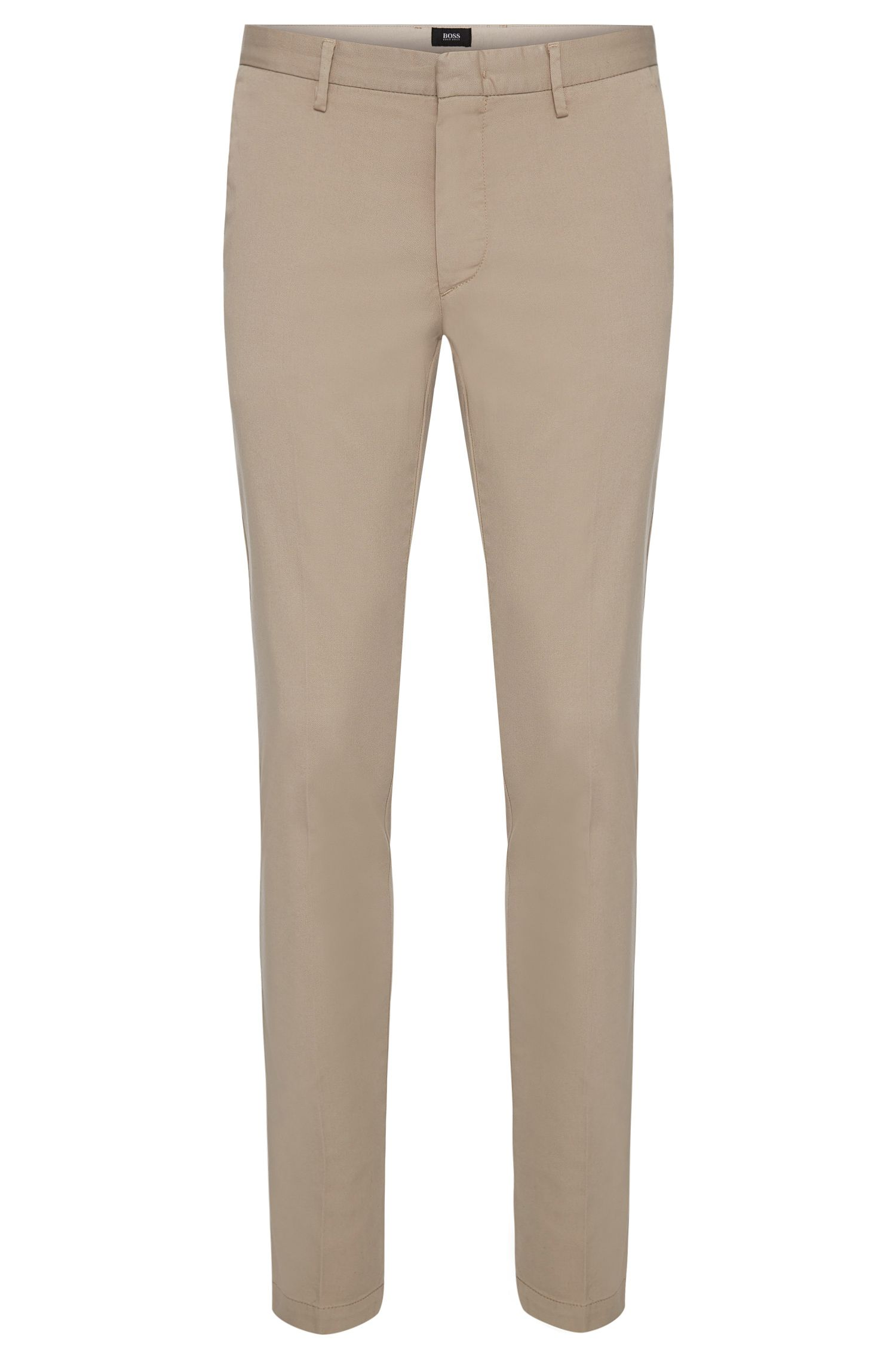 Slim-fit trousers in stretch gabardine