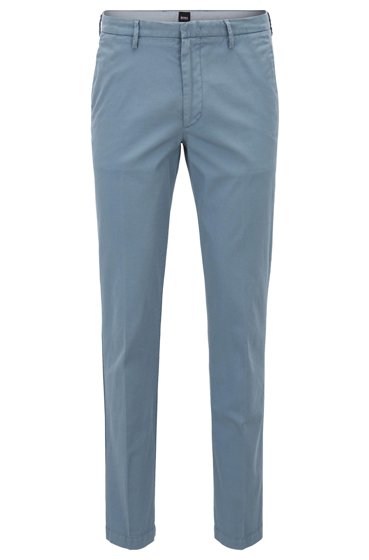 Slim-fit chinos in stretch cotton gabardine