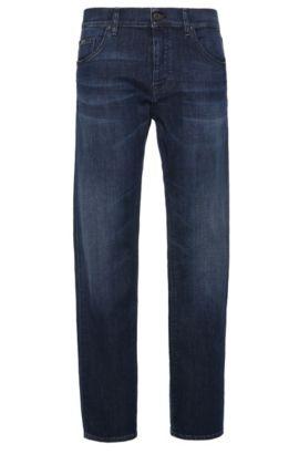 Jeans Regular Fit en coton extensible: «C-MAINE1», Bleu foncé