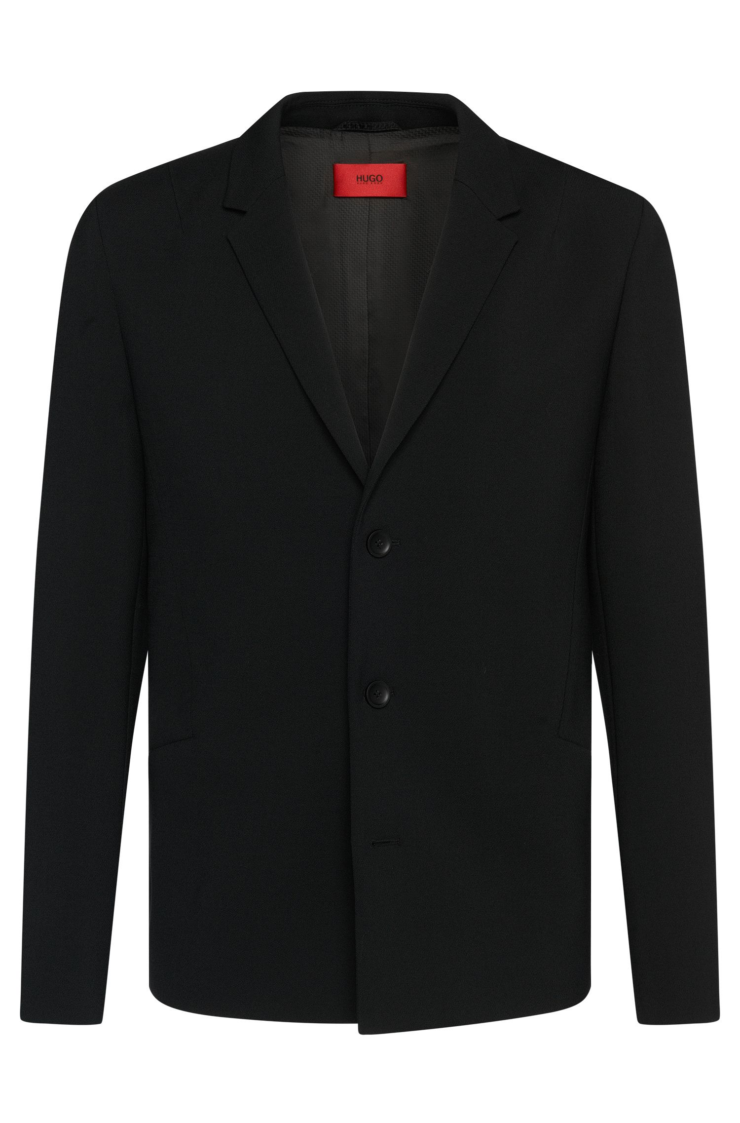 Regular-fit jacket with asymmetric darts: 'Arby'