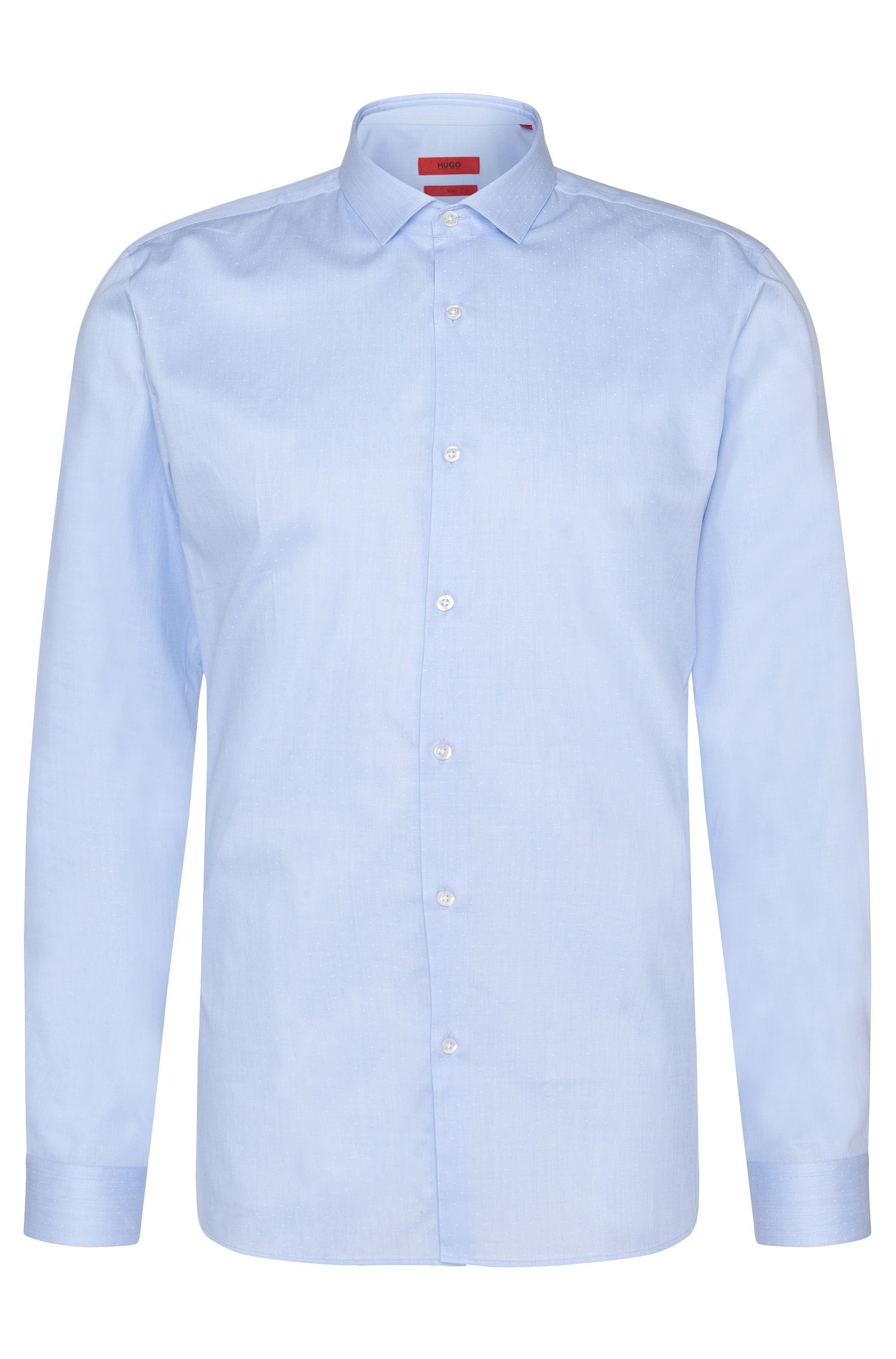 Camicia slim fit in cotone finemente disegnata: 'Erondo'