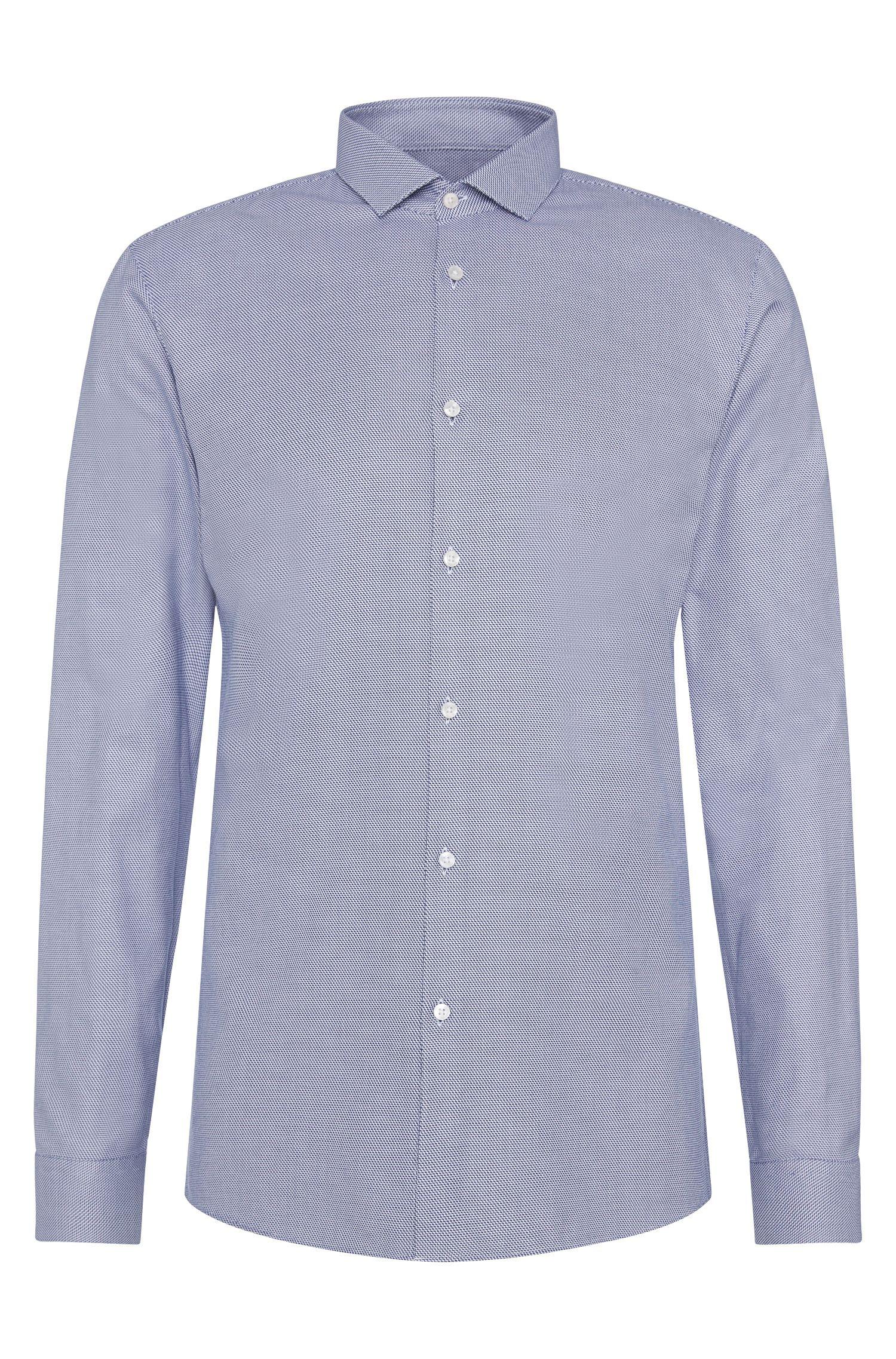 Slim-fit overhemd van katoen met dessin: 'Erondo'