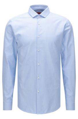 Patterned slim-fit shirt in cotton: 'Erondo', Light Blue