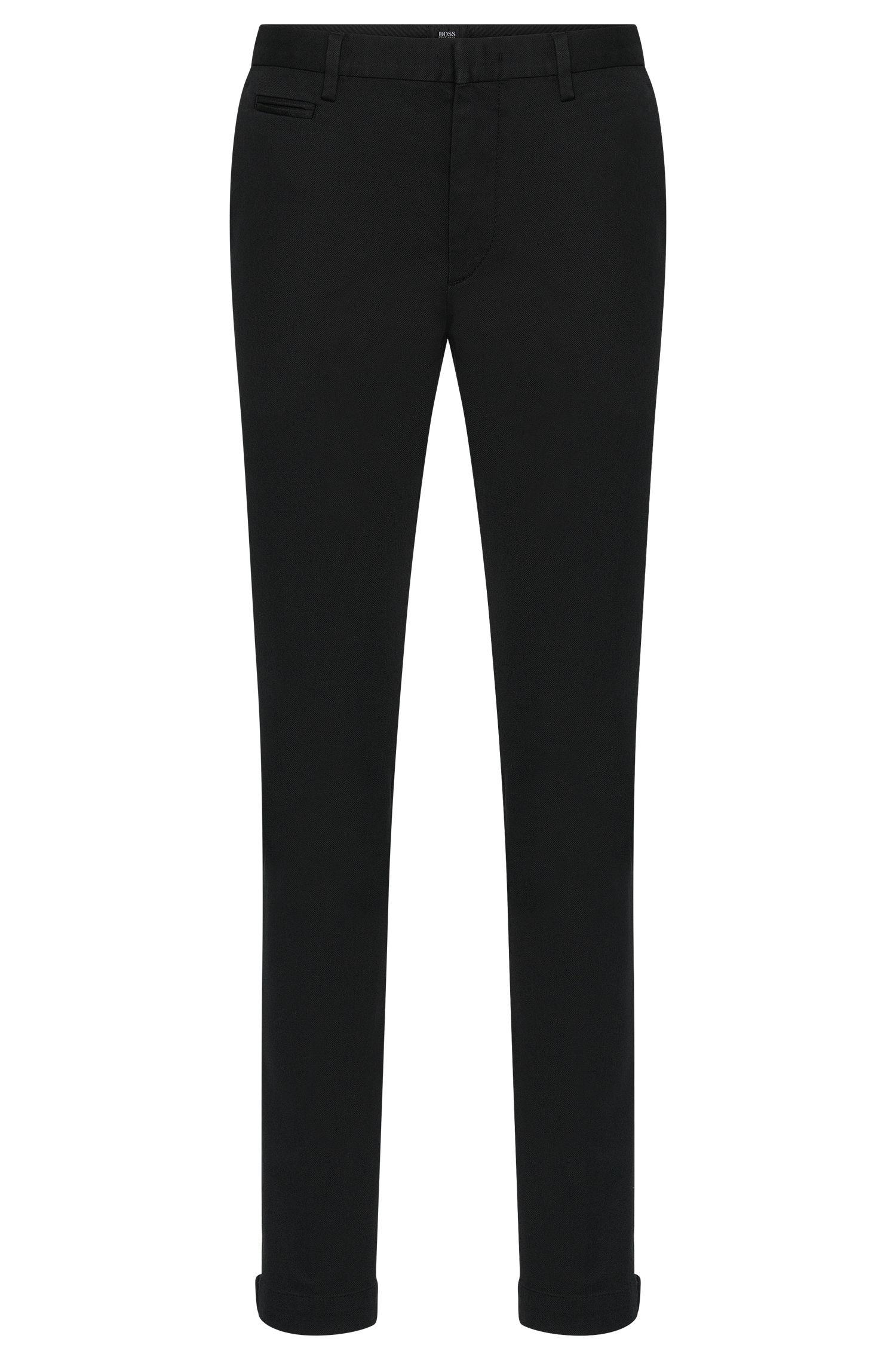 Chinos slim fit en algodón elástico con un discreto estampado con textura: 'Kaito3-5-W'