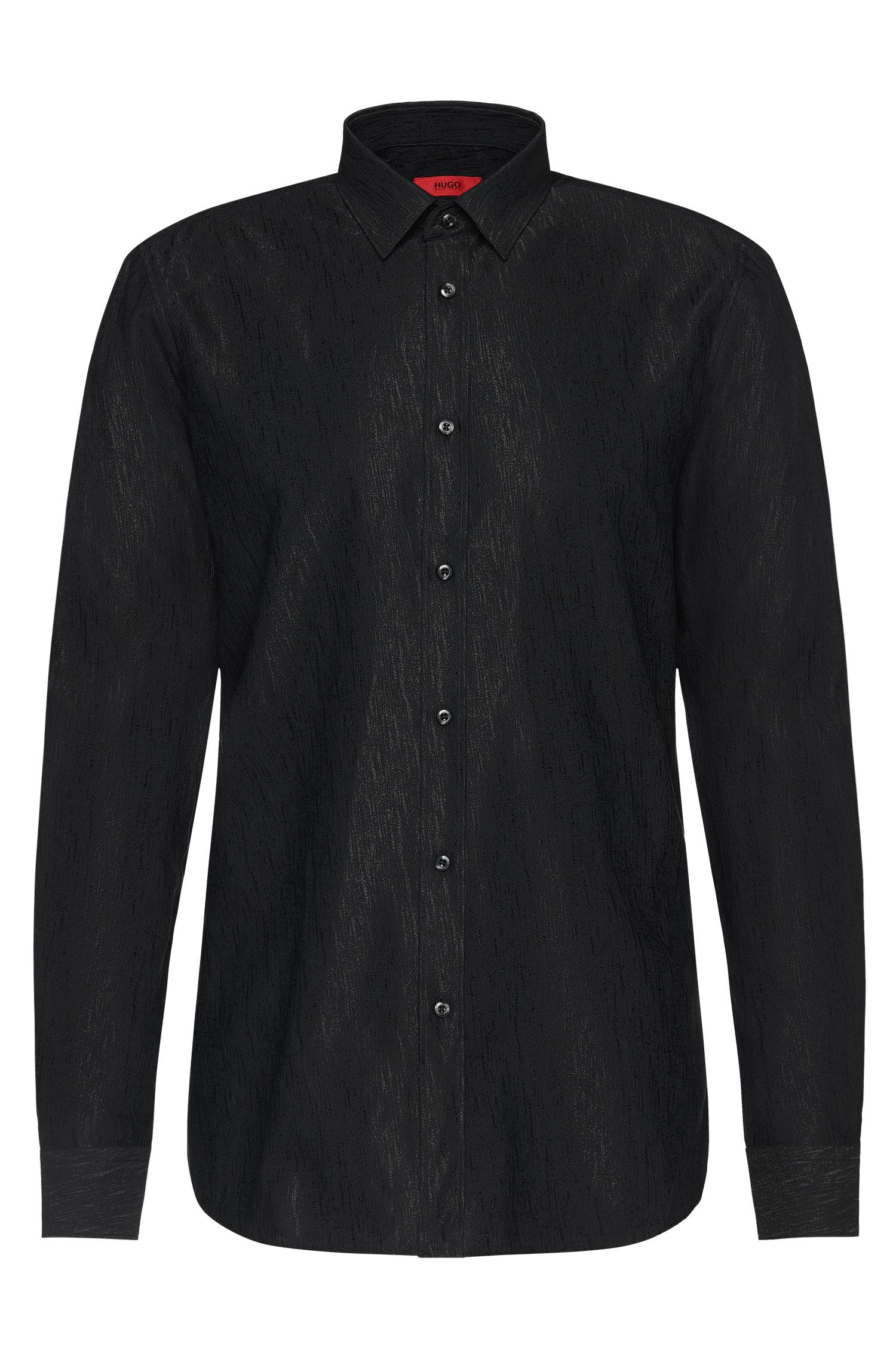 Slim-fit shirt in cotton blend with viscose: 'Elisha'