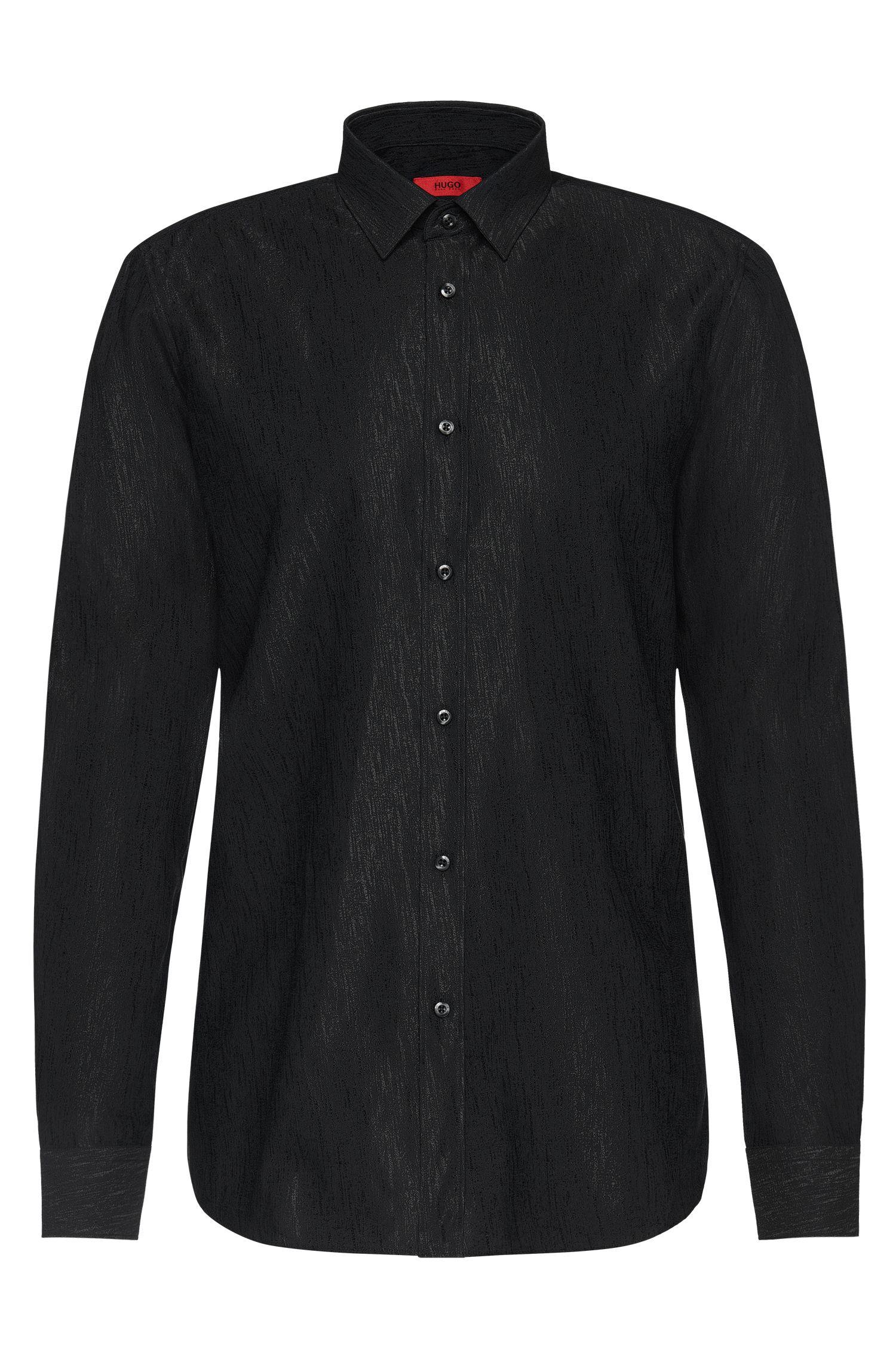 Camisa slim fit en mezcla de algodón con viscosa: 'Elisha'