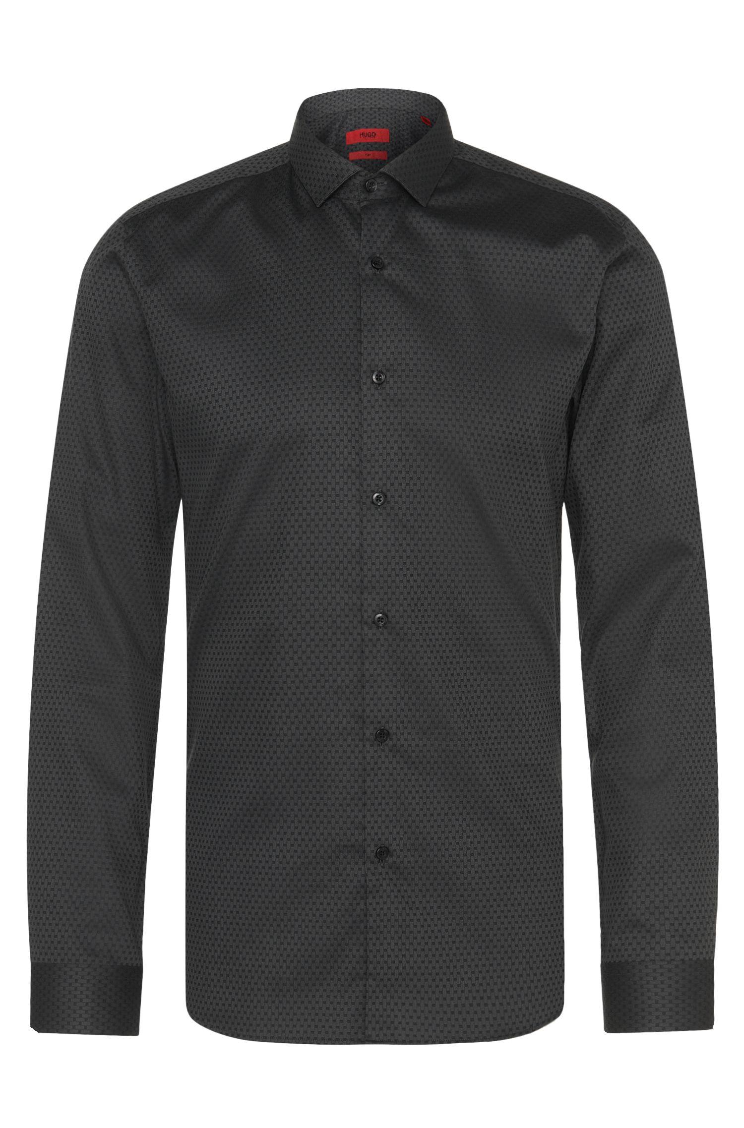 Chemise Slim Fit à motif en coton: «Erondo»