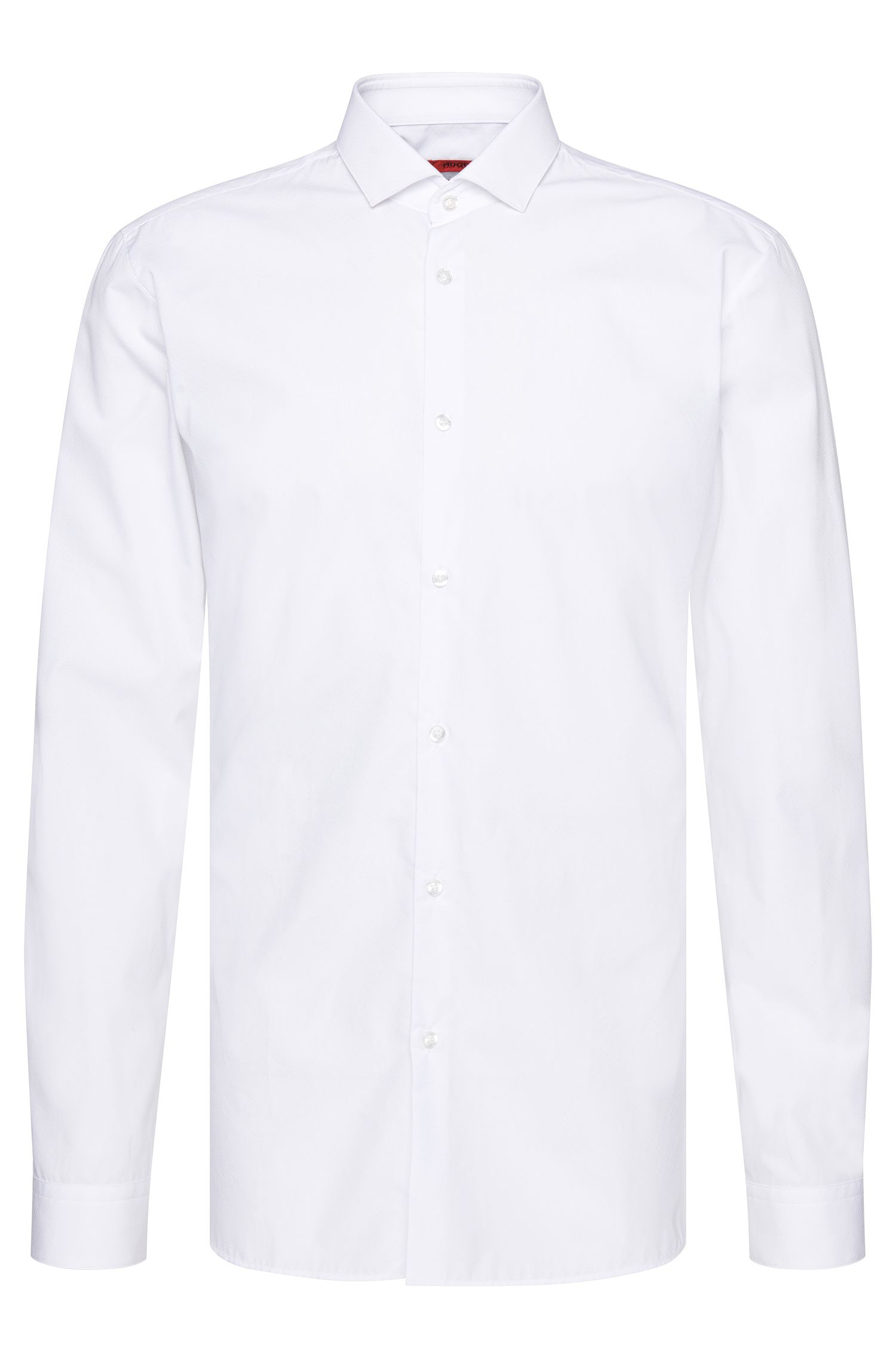 Slim-fit overhemd van katoen met structuurdessin: 'Erondo'