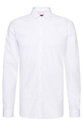 Slim-Fit Hemd aus Baumwolle mit Struktur-Muster: 'Erondo', Weiß