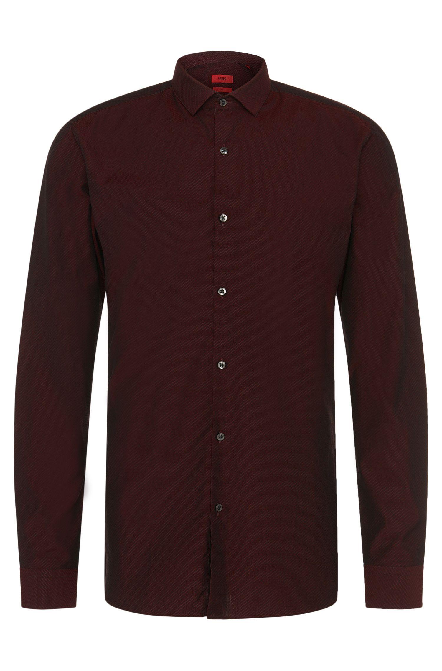 Slim-Fit Hemd aus Baumwolle mit Struktur-Muster: 'Erondo'