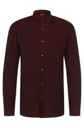 Slim-Fit Hemd aus Baumwolle mit Struktur-Muster: 'Erondo', Dunkelrot
