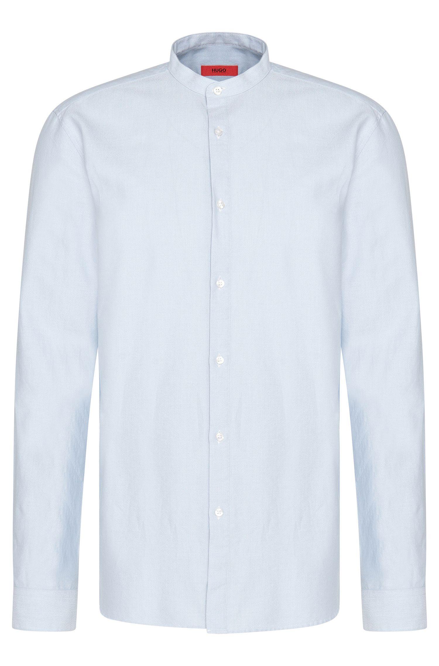 Unifarbenes Comfort-Fit Hemd aus Baumwolle: 'Edoug'