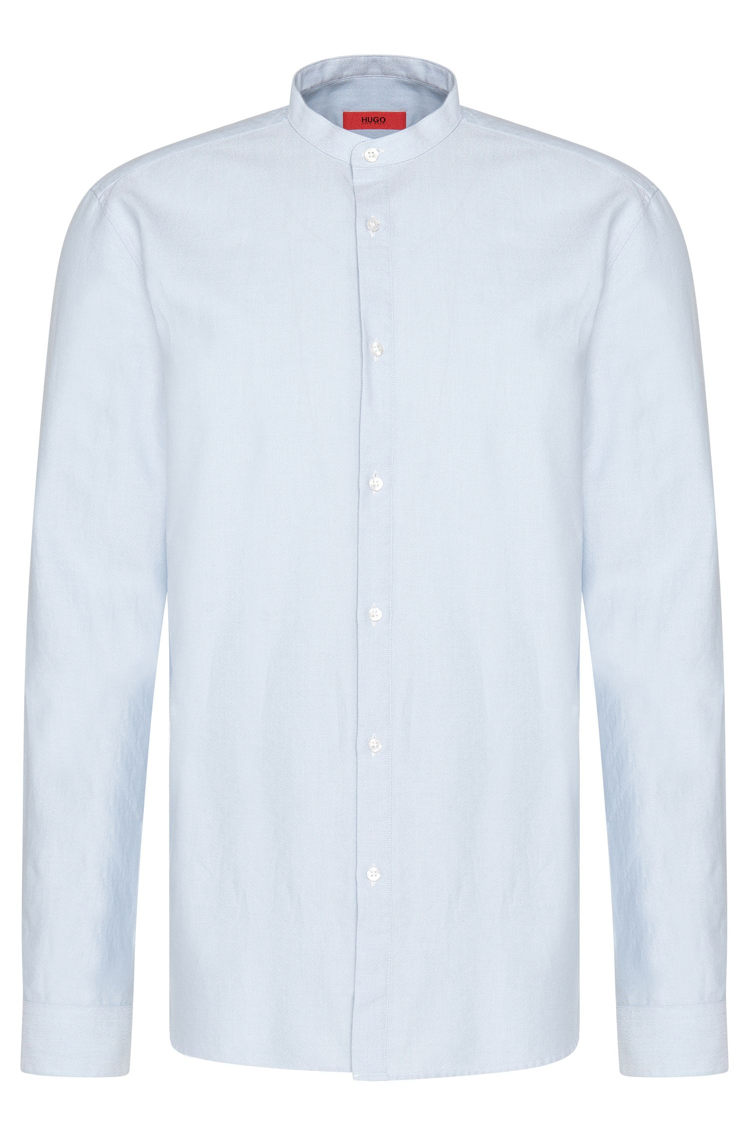 Plain comfort-fit shirt in cotton: 'Edoug'