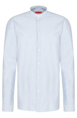 Plain comfort-fit shirt in cotton: 'Edoug', Light Blue