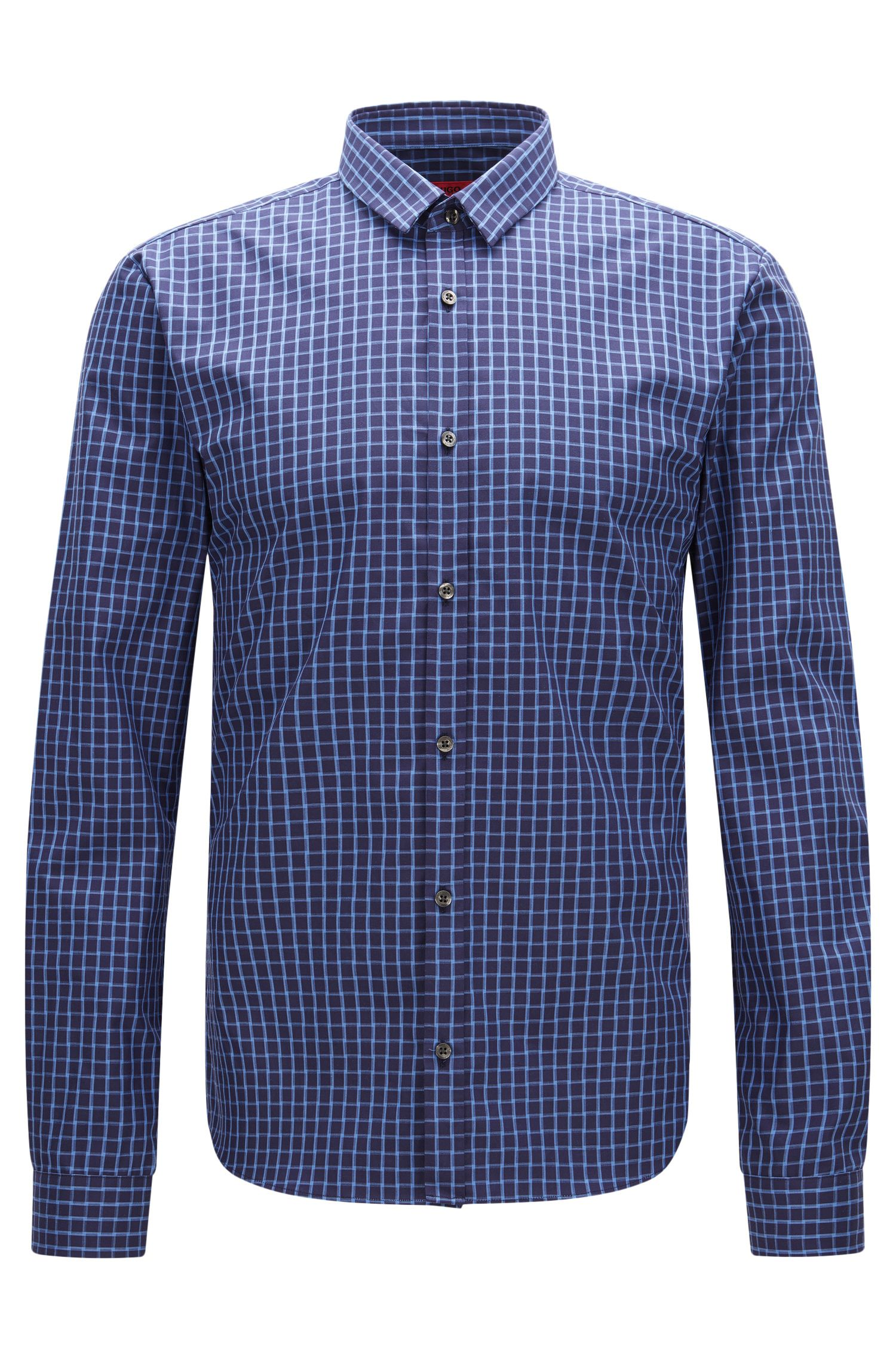 Camicia slim fit a quadri in cotone: 'Ero3'