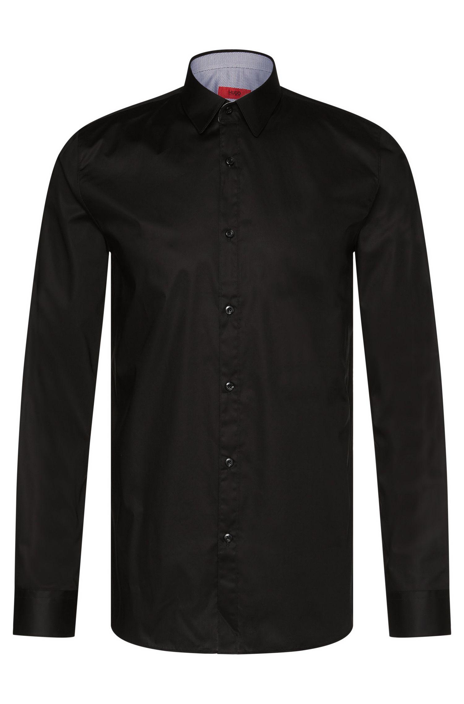 Unifarbenes Extra Slim-Fit Hemd aus Stretch-Baumwolle: 'Efin'