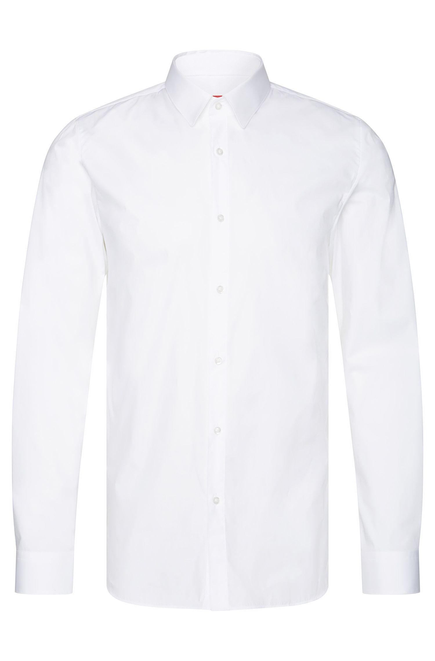 Camisa lisa extra slim fit en algodón elástico: 'Efin'