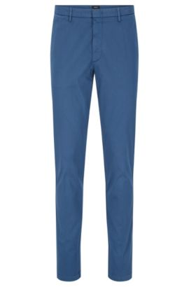 Chino Slim Fit en coton stretch : « Kaito3-D », Bleu vif