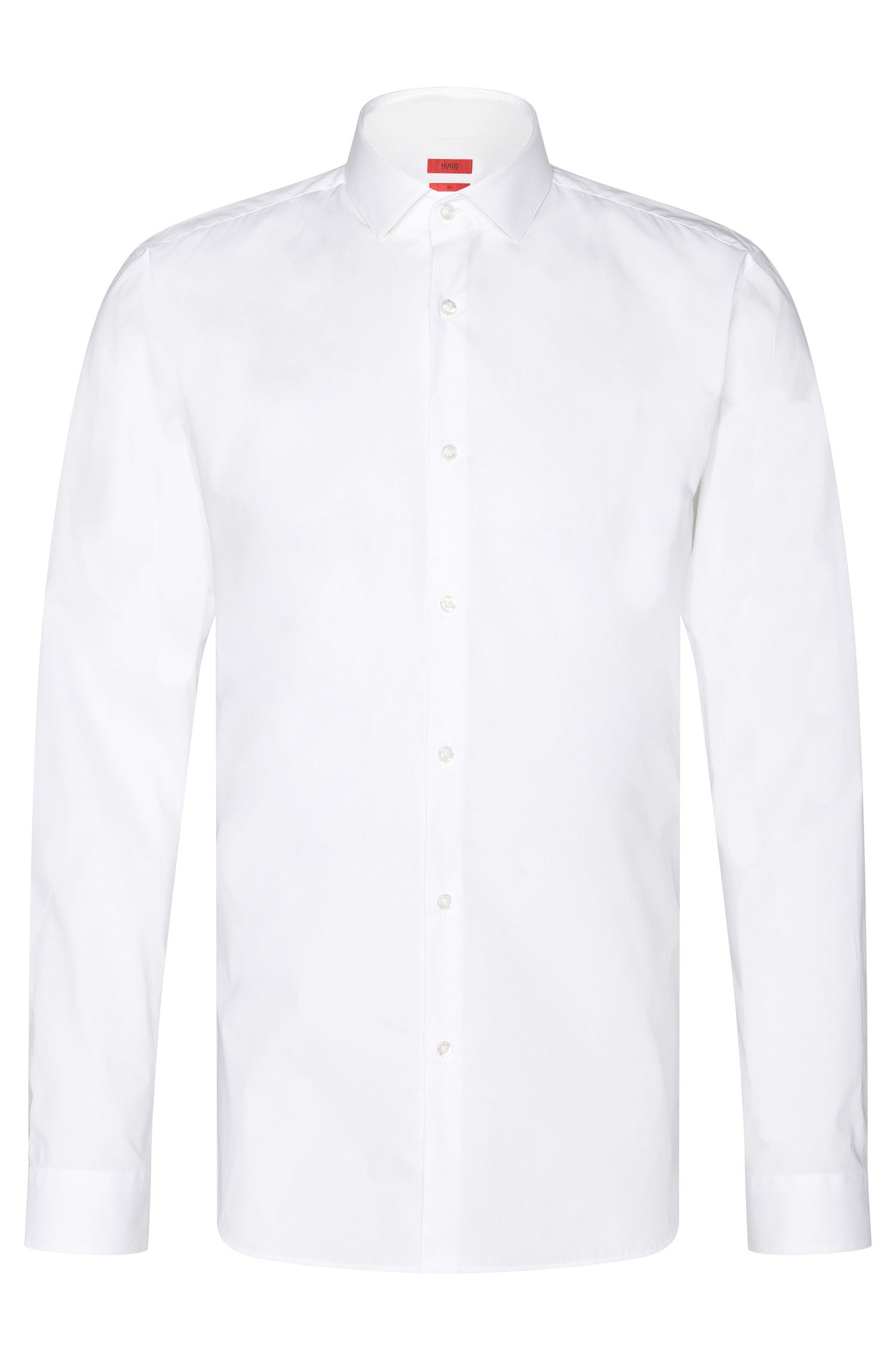 Unifarbenes Slim-Fit Hemd aus Stretch-Baumwolle: 'Erondo'