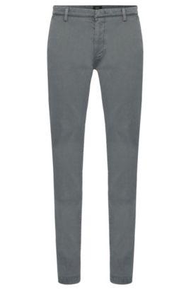Fein geriffelte Slim-Fit Chino aus Stretch-Baumwolle: 'Rice3-1-D', Grau