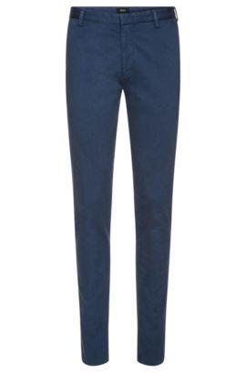 Chino Slim Fit finement côtelé en coton extensible: «Rice3-1-D», Bleu vif