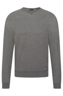Sweat Slim Fit chiné en coton mélangé : « Skubic 13 », Gris