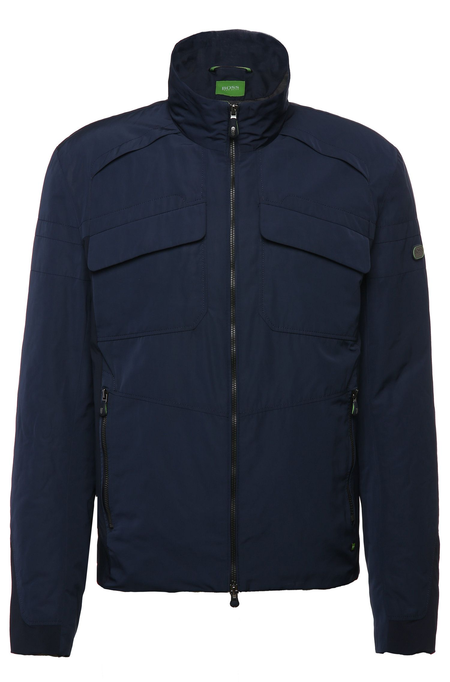 Bomber jacket in smooth fabric: 'Jido'
