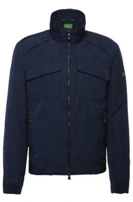 Blouson-Jacke in glatter Qualität: ´Jido`, Dunkelblau