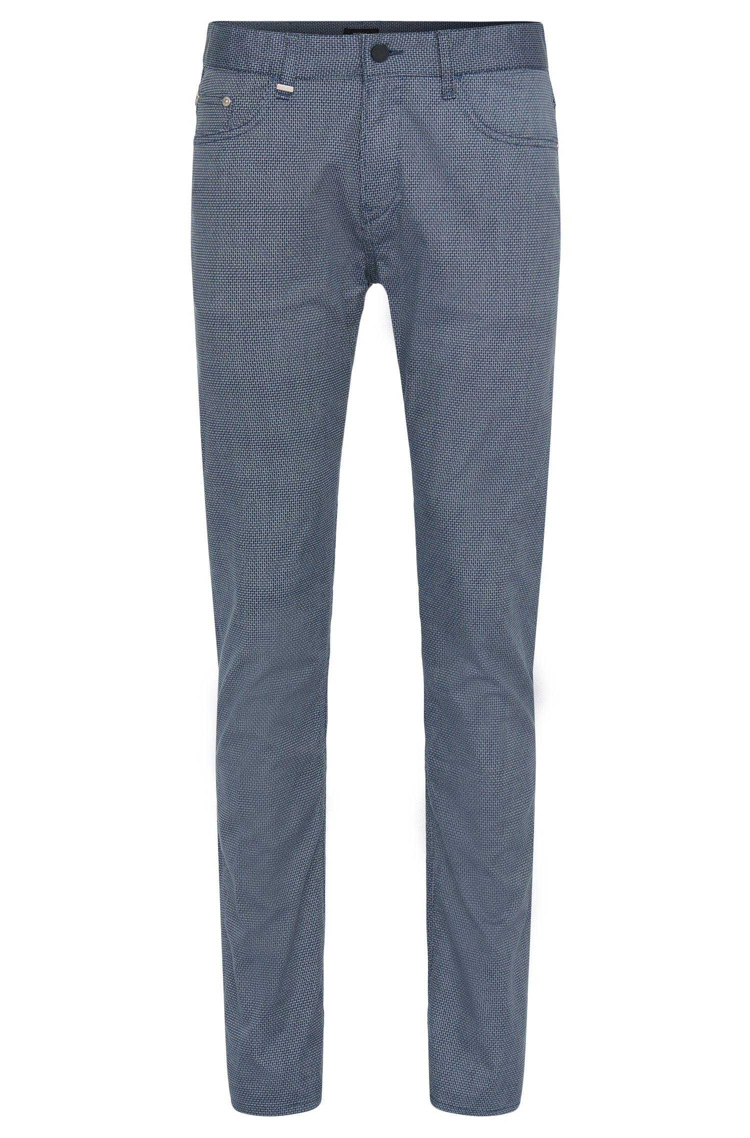 Pantalon Slim Fit orné d'un motif discret: «Delaware3-2-20»