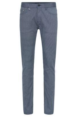 Pantalon Slim Fit orné d'un motif discret: «Delaware3-2-20», Bleu foncé