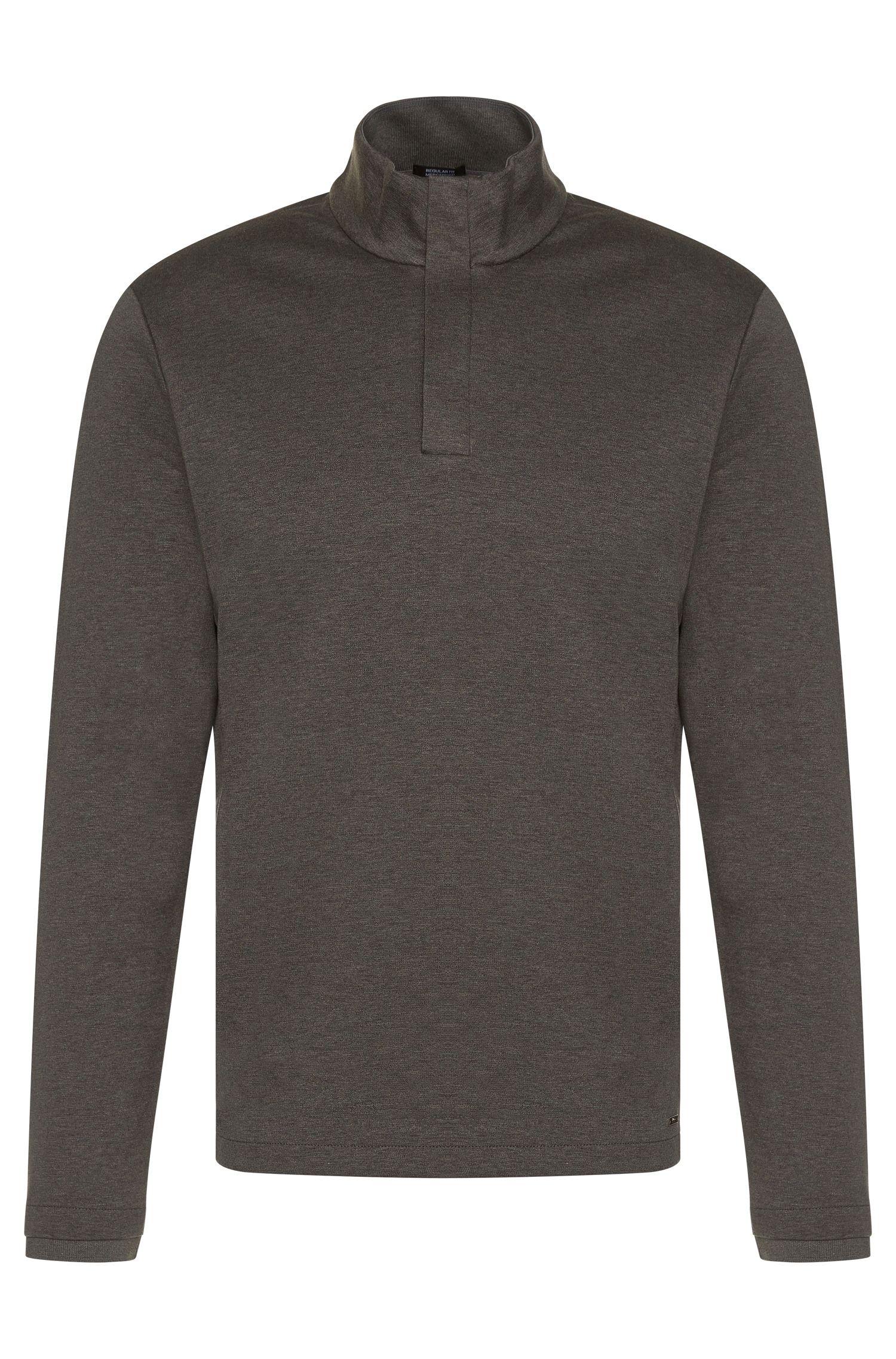 Regular-fit sweatshirt van gemerceriseerde katoen: 'Sydney 08'