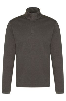 Regular-fit sweatshirt in mercerised cotton: 'Sydney 08', Grey