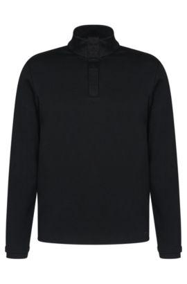Regular-Fit Sweatshirt aus merzerisierter Baumwolle: 'Sydney 08', Dunkelblau